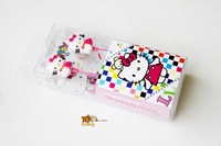 Fast shipping cuty cartoon Hello Kitty headsets for ipod, MP3,mobile phone,cell phone 10pcs/lot good package
