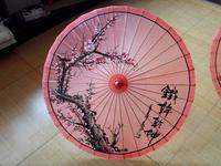 Artistic Quality * * Anti Umbrella Classic Rose Red Plum Blossom Oil Paper Umbrella *