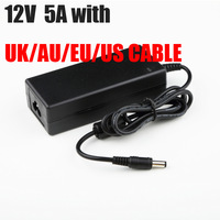 100pcs high quality AC/DC 12V  5A POWER ADAPTER  POWER SUPPLY FOR IMAX B6 B5  ADAPTOR WITH UK/US/AU/EU CABLE