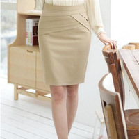Plus size Business Office Lady Skirts Four Color Pencil Skirts Women free shipping