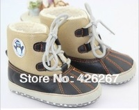 Free shipping High quality kid baby shoes newborn baby boy shoes PU Cotton Boots baby first walkers shoes Wholesale  retail