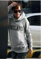 women pullover fleece hooded sweatshirt outerwear England letter print Hoody Long sleeve coat lady Simple loose jacket