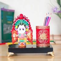 Free Shipping Chinese Ethnic Minorities Pen Stand Handwork Porcelain Brush Pot Vintage Embossment Chinese Brush Pot