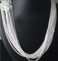 "20pcs hot sale bulk Rolo Silver Chain Necklace 1MM  fashion Jewelry 925 silver chain necklace 24inch 925 silver ""O"" link"