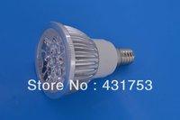 12W E14 (4 * 3W) LED Spot Light LED 85-265V/AC warm white / white / cool white bulb free shipping ( high brightness )