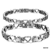 Charm Balance Stainless Steel Magnet Bracelet With Germanium Power Stone Titanium Steel Women Bracelet Men Jewelry 3162
