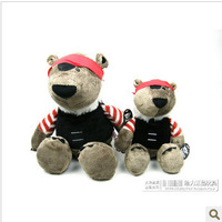 Free Shipping The NICI high quality plush toys 25cm Pirate Bear doll Soft Toys Stuffed animals  the Best Gift For Baby