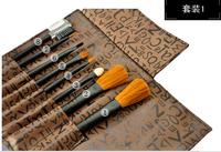 6sets Makeup Brush set 8-in-1 Cosmetic Brushes Applicators Set&Case Make-Up Brush Set Case 100pcs/lot