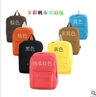 2014 canvas backpack school bag trend double-shoulder back candy bags free shipping