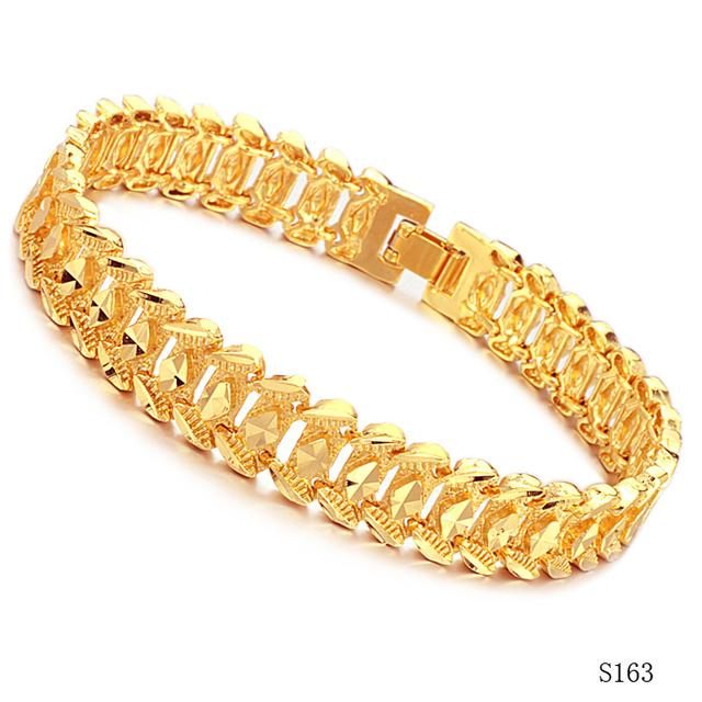 Vintage 18k Gold Link Bracelet Vintage 18k Real Gold