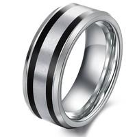 Fashion finger jewelry accessories men's best gift tungsten steel ring wj226