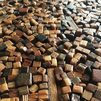 Natural wood mosaic tile NWMT040 wood mosaics kitchen backsplash tile strip wood mosaic wall pattern wood mosaic wall design