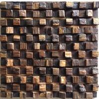 Natural wood mosaic tile NWMT041 wood mosaics kitchen backsplash tile strip wood mosaic wall pattern wood mosaic wall design