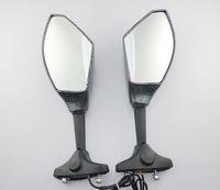 Free shipping Carbon LED Turn Signals Mirrors For Honda CBR 600RR 1987-2010  &Honda CBR 600 F1 F2 F3 F4 F4i