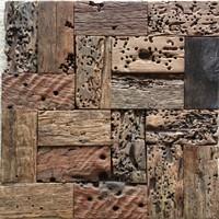 Natural wood mosaic tile NWMT049 wood mosaics kitchen backsplash tile ancient wood mosaic wall tiles wood mosaic tile panels