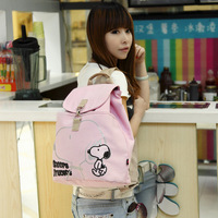 Canvas backpack female preppy style middle school students school bag female backpack canvas bag women's handbag