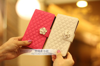 Luxury Flower Buckle Grip Leather Wallet Case Cover for Sony Xperia Z L36H L36I