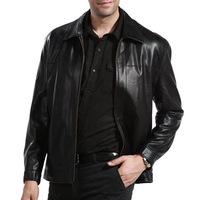 Hot-selling  male sheepskin leather jacket men's clothing men's leather jackets