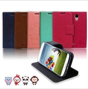 Qric mount ultra-thin leather case  for SAMSUNG   i9300 i9500 n7100 s3 s4 cell phone case