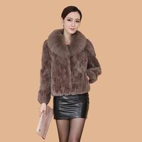 Anti season hot-selling fur coat fox fur rex rabbit hair fur coat female short design Natural fur coat free shipping