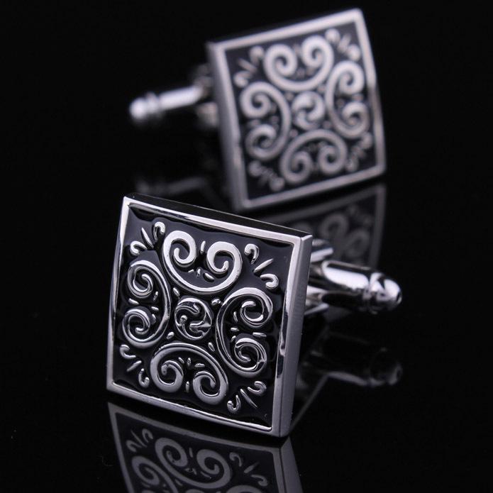 Classical men cufflinks vintage pattern silver shirt cuffs free shipping(China (Mainland))