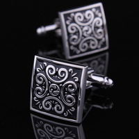 Classical men  cufflinks vintage pattern silver shirt cuffs free shipping