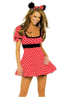 Adult Minnie Mouse Costume,halloween cosplay costumes,women clothing