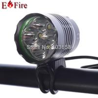 New Arrival 5200 Lumen 4 x CREE XM-L T6 LED Bicycle Bike Head Light Flashlight Waterproof Design  6400Mah Battery