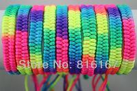 Free shipping New style Fashion Jewelry Trendy wholesale mixed lots 50pcs Hand woven Adjustable WOMEN Bracelet