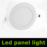 6W SMD 3014 round LED Panel Light Lamp ceiling lighting bulb Warm White/White lights 105mm free shipping