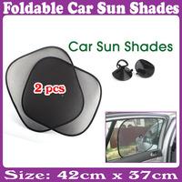 5 Sets/Lot _ Foldable Side Window Screen Mesh Sun Shades for Car 2Pcs/set