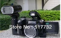 Free shipping new 12 megapixel camera with 4x zoom SLR camera LED headlamps