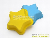 Silica gel star cake mold diy tool baking mould horse cup bread mold high temperature resistant chocolate