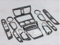 Carbon Fiber Interior Decorative Accessories for Subaru Impreza 2006-2008(LHD) Total 14pcs Upgrade Your Vehicle Free Shipping