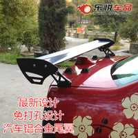 Hole-digging MITSUBISHI v3 aluminum alloy general tailplane automobile race automobile tail wing sports car