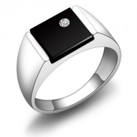 Pure silver ring male girls fashion ring fashion pure silver jewelry ring box