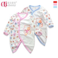 Newborn butterfly clothing male full 100% cotton clothes romper baby romper 3 - 69 autumn and winter