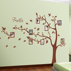 Diy wall murals 2017 grasscloth wallpaper for Diy family tree wall mural