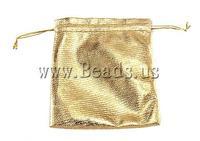 Free shipping!!!Jewelry Drawstring Bags,Diy, Cloth, Rectangle, gold, 100x116x0.50mm, 100PCs/Bag, Sold By Bag