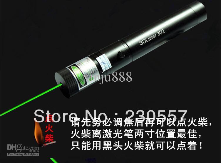 & high power 5000mw green laser pen, green laser pointers light match(China (Mainland))