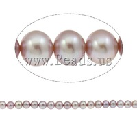 Free shipping!!!Round Cultured Freshwater Pearl Beads,2013 Fashion, natural, purple, AAA, 11-12mm, Hole:Approx 1mm