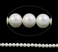 Free shipping!!!Round Cultured Freshwater Pearl Beads,Lovely Design, with Nylon Cord, natural, white, AAA, 12-13mm