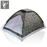 free shipping Outdoor casual camping tent double single tier Camouflage tent rain tents lovers tent