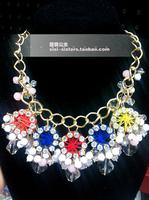 Marina shourouk fossati crystal floral necklace flower necklace