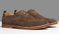 Free shipping 100% cowhide genuine leather men's sneakers big size 38-47