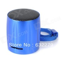 E-129 Portable Mini Media Player Speaker w/ TF / FM - Blue  Free Delivery