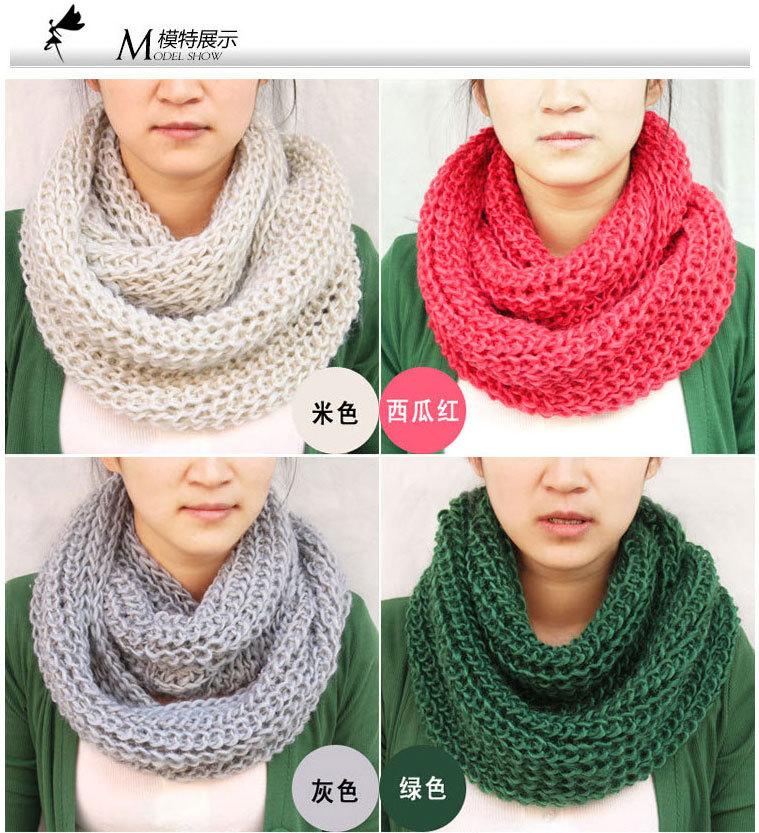 tricoter une echarpe infinie