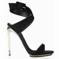 2013 fashion gz women's sexy high-heeled shoes gladiator style black high-heeled sandals female platform banquet