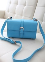 Women's handbag 2013 brief strap decoration box clip package small bag messenger bag