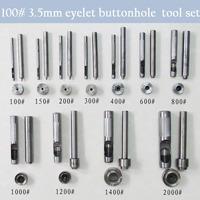 100# 3.5mm DIY handmade metal eyelet buttonhole tools for make eyelet hole set